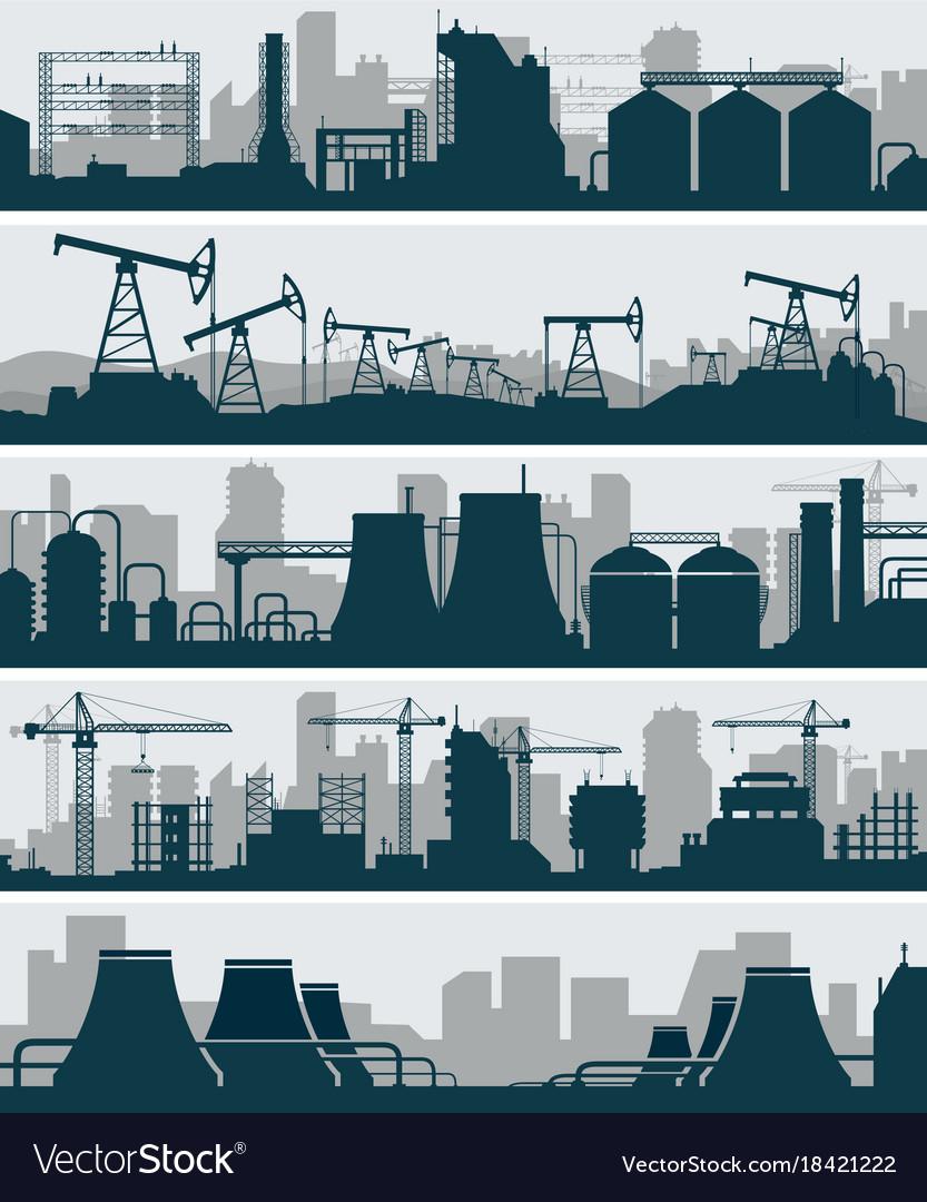 Industrial skyline set