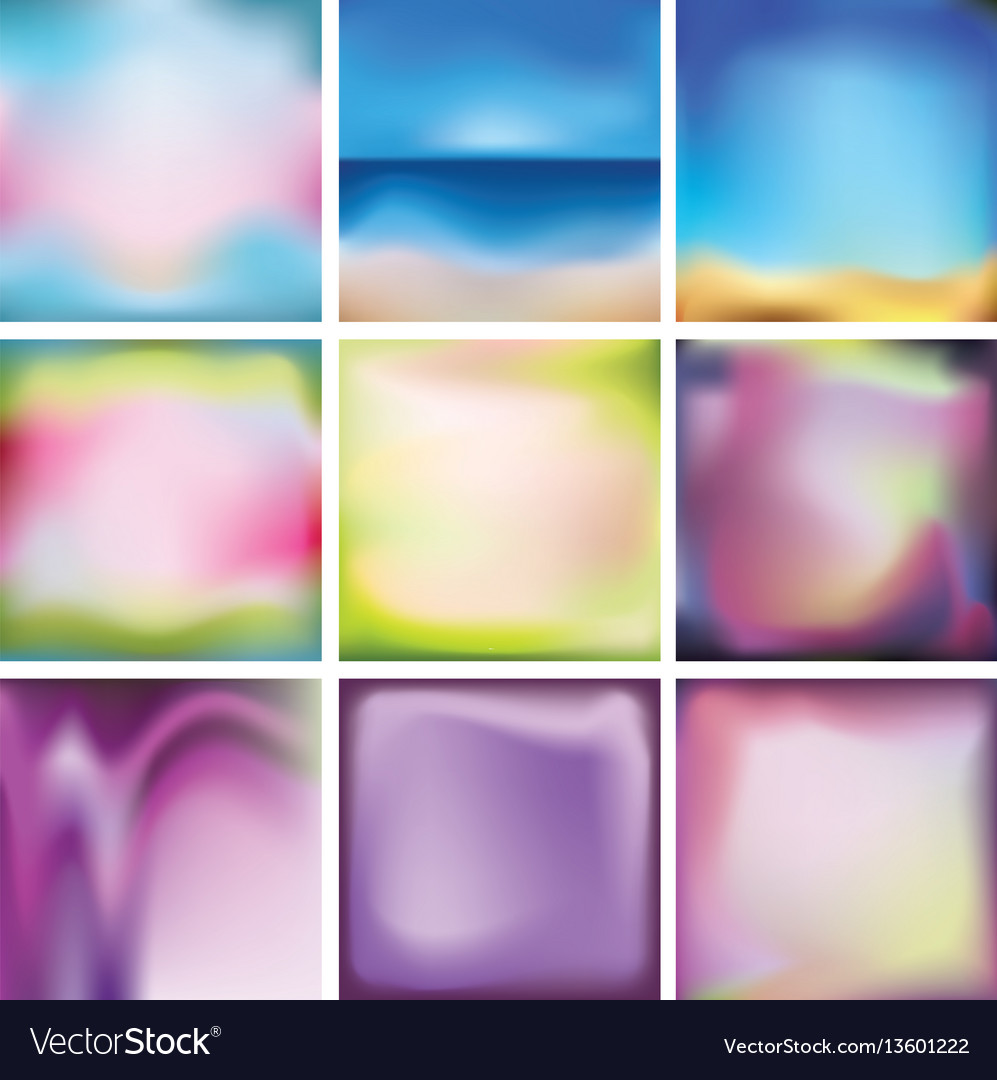 Set of bright colored multi-colored backgrounds