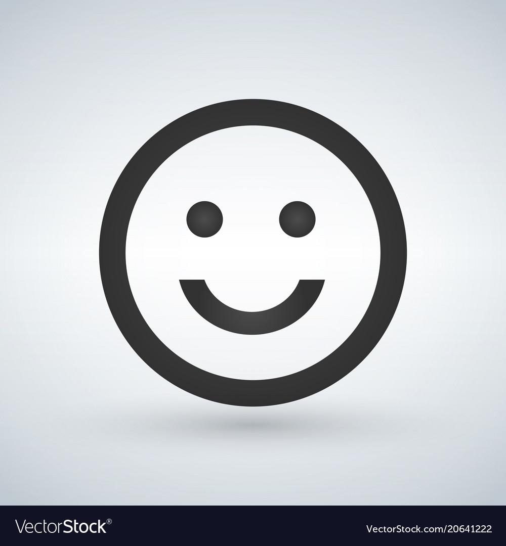 Smiling emoticon square face icon avatar symbol vector image