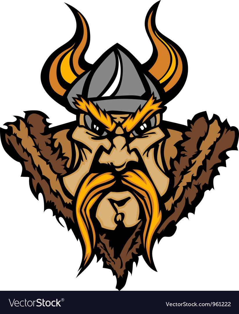 Viking Cartoon with Horned Helmet