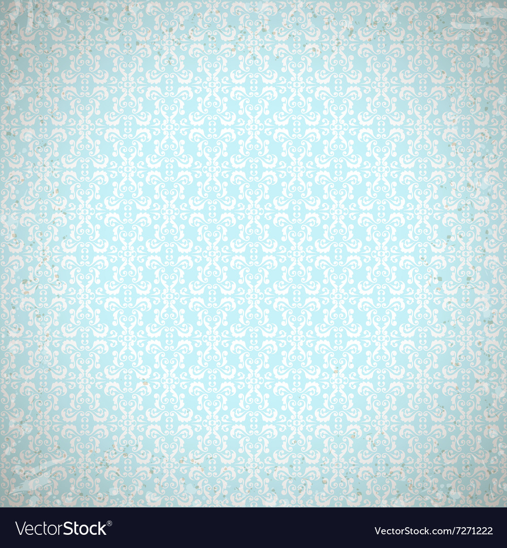 Vintage Seamless Pattern with damask elements vector image