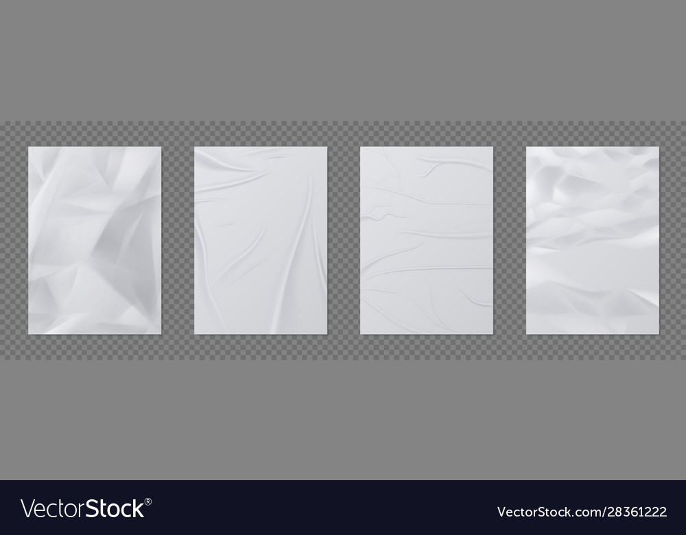 Wrinkled paper crumpled sheet paper empty