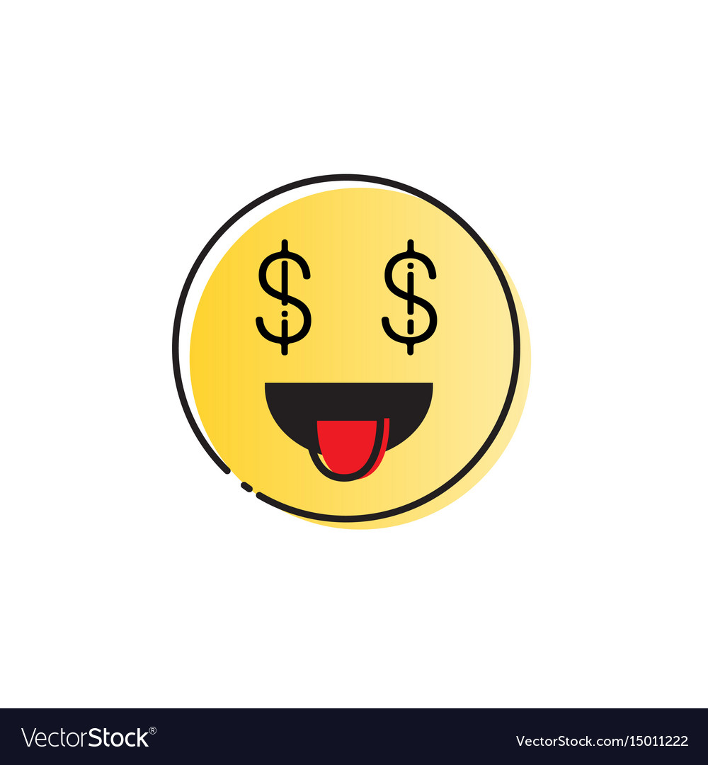 Yellow smiling cartoon face people emotion show