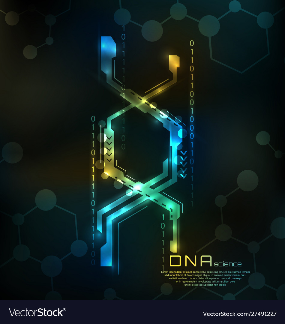 Abstract dna structure medical science background