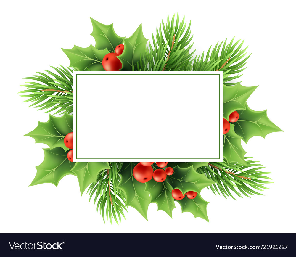 Christmas greeting card template Royalty Free Vector Image