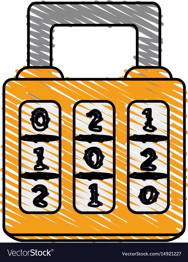 Color crayon stripe cartoon combination padlock