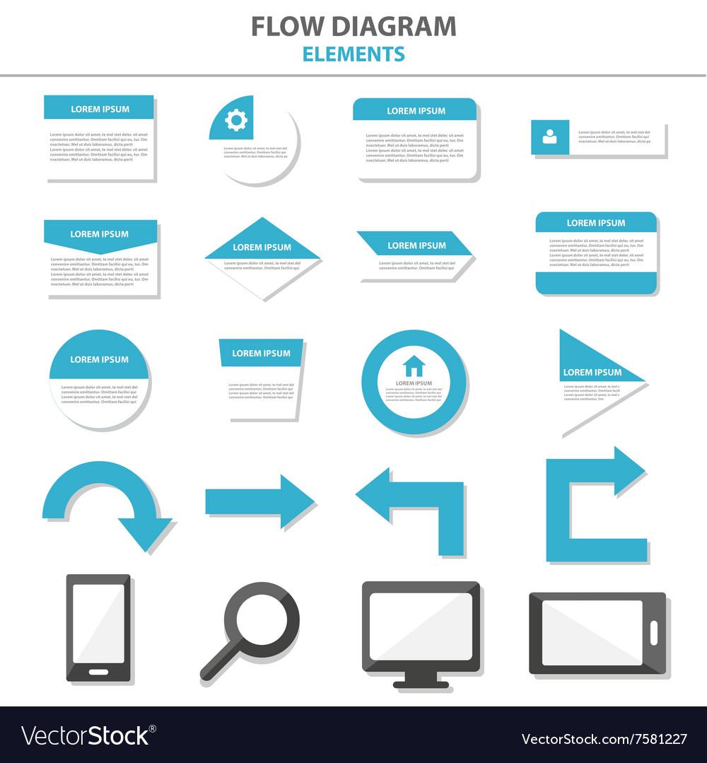Flow diagram infographic elements flat design set vector image ccuart Gallery
