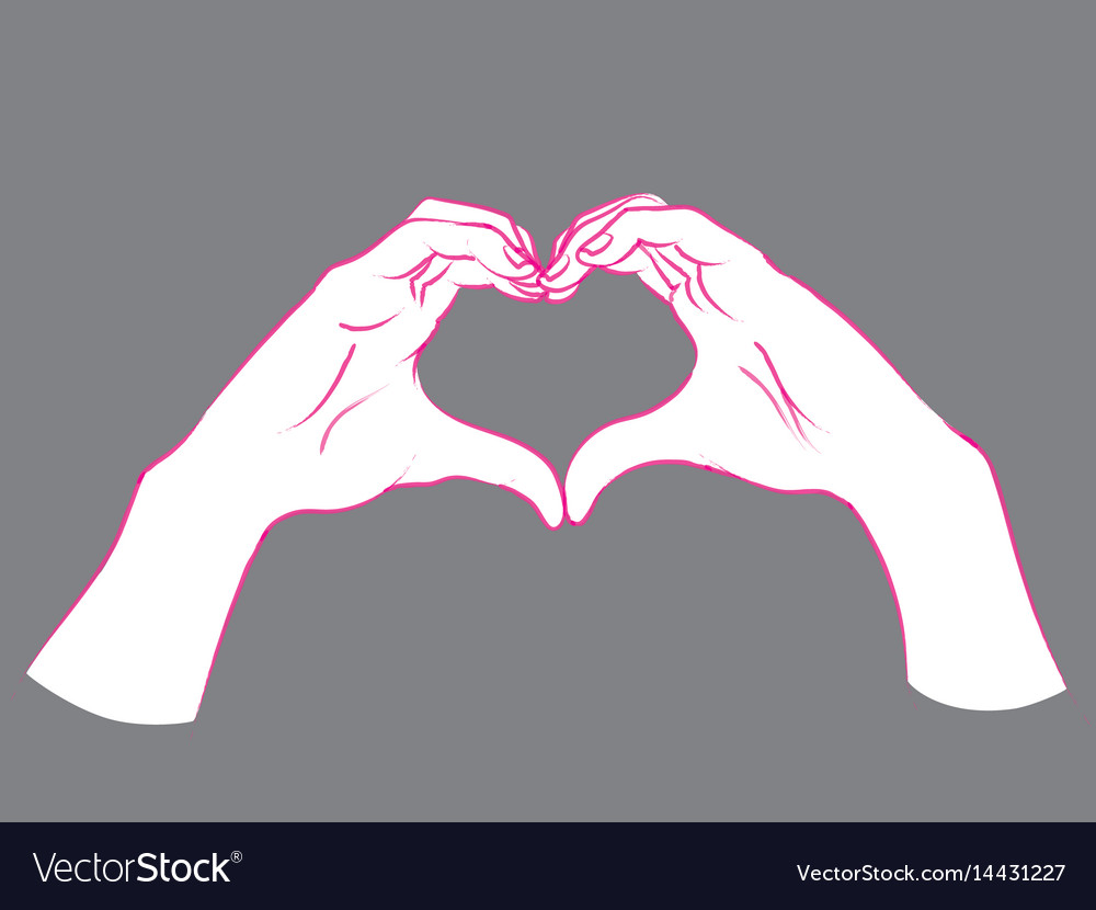 Gesture female hands in the form of heart