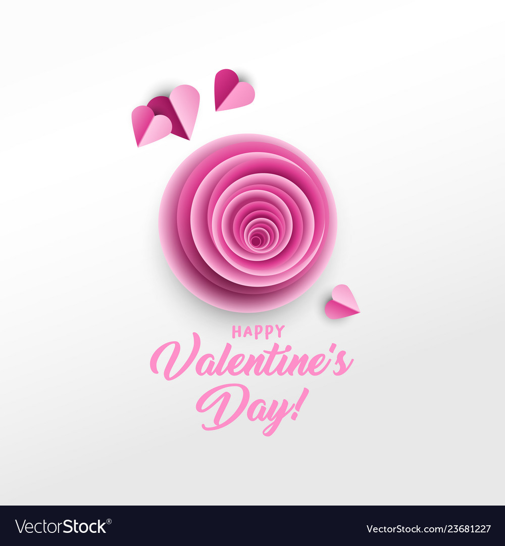 Happy valentine s day greeting card design