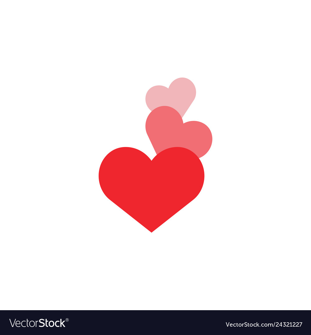 Heart love icon design template isolated