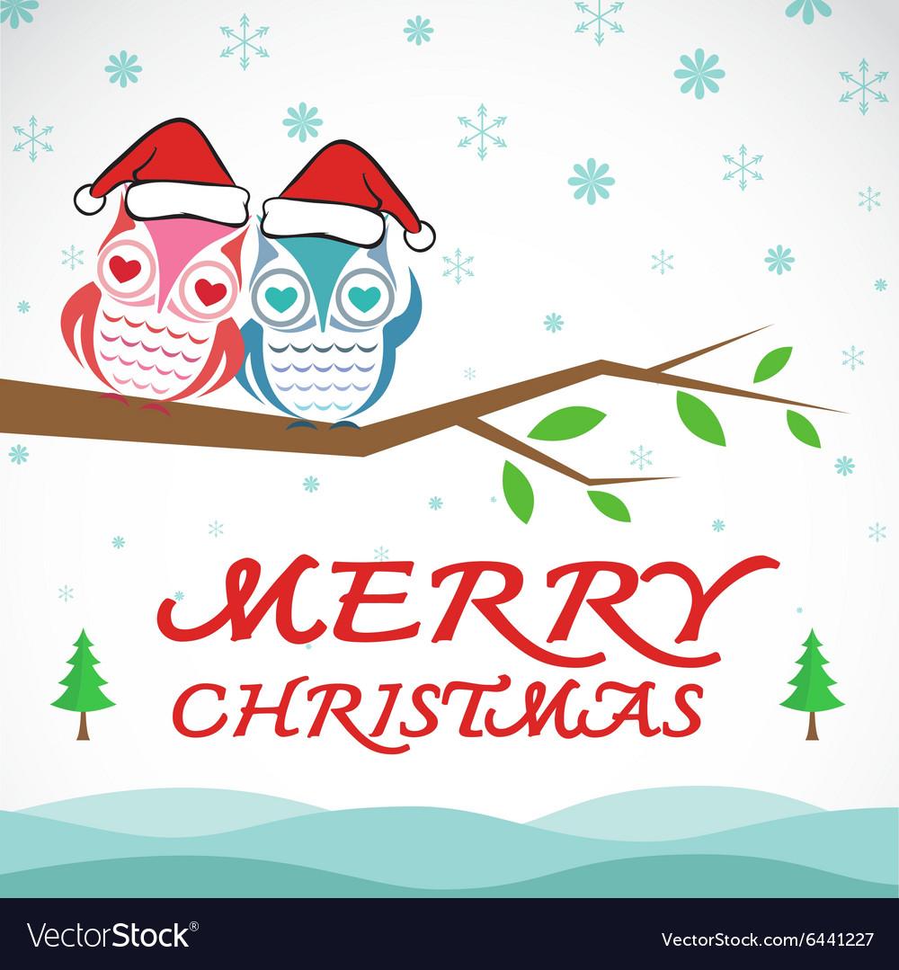 Owl merry christmas