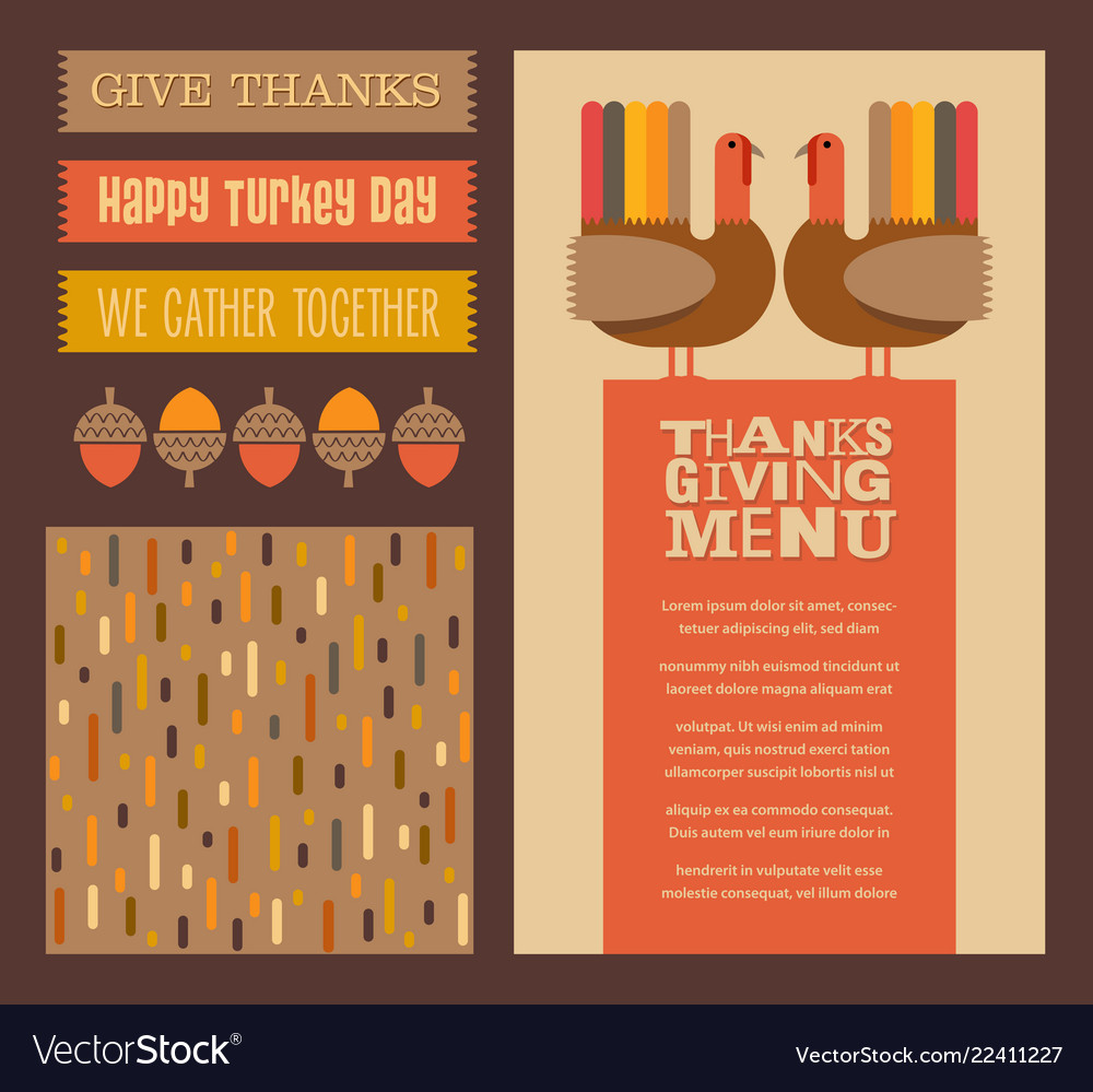 Thanksgiving and autumn design elements