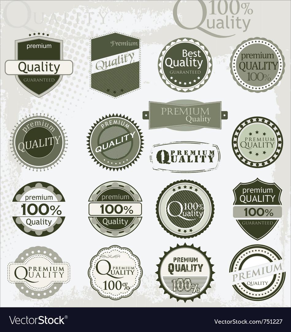 Vintage retro premium quality labels vector image