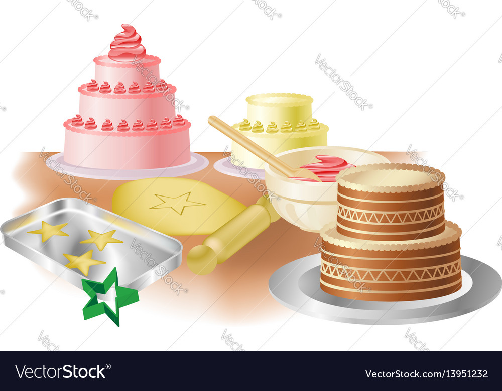 Baking cakes and cookies