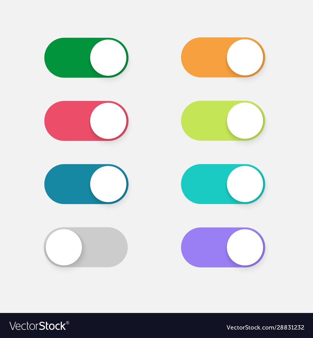 Buttons toggle switch off on design mobile ui