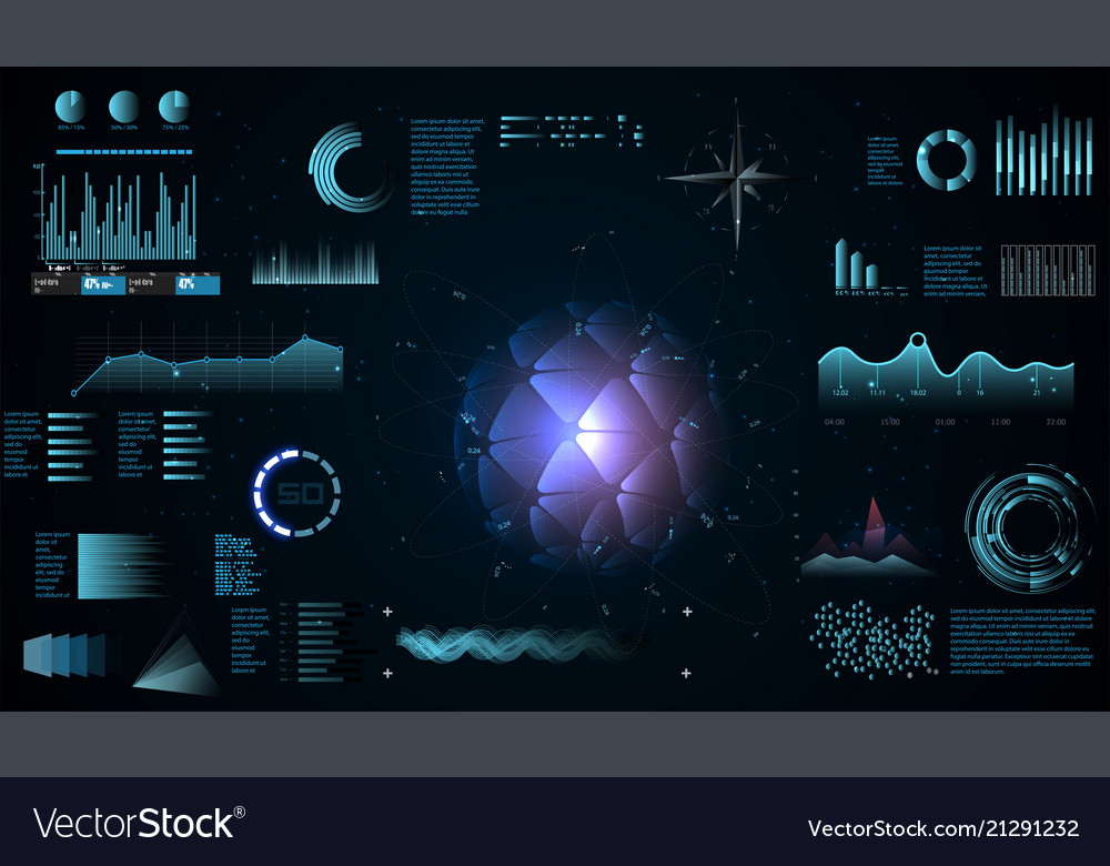 Futuristic interface hud infographic elements