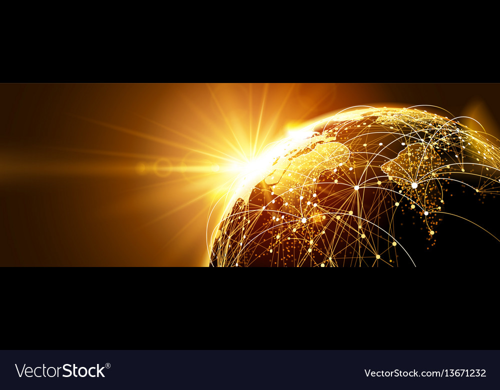 Global network with sunrise