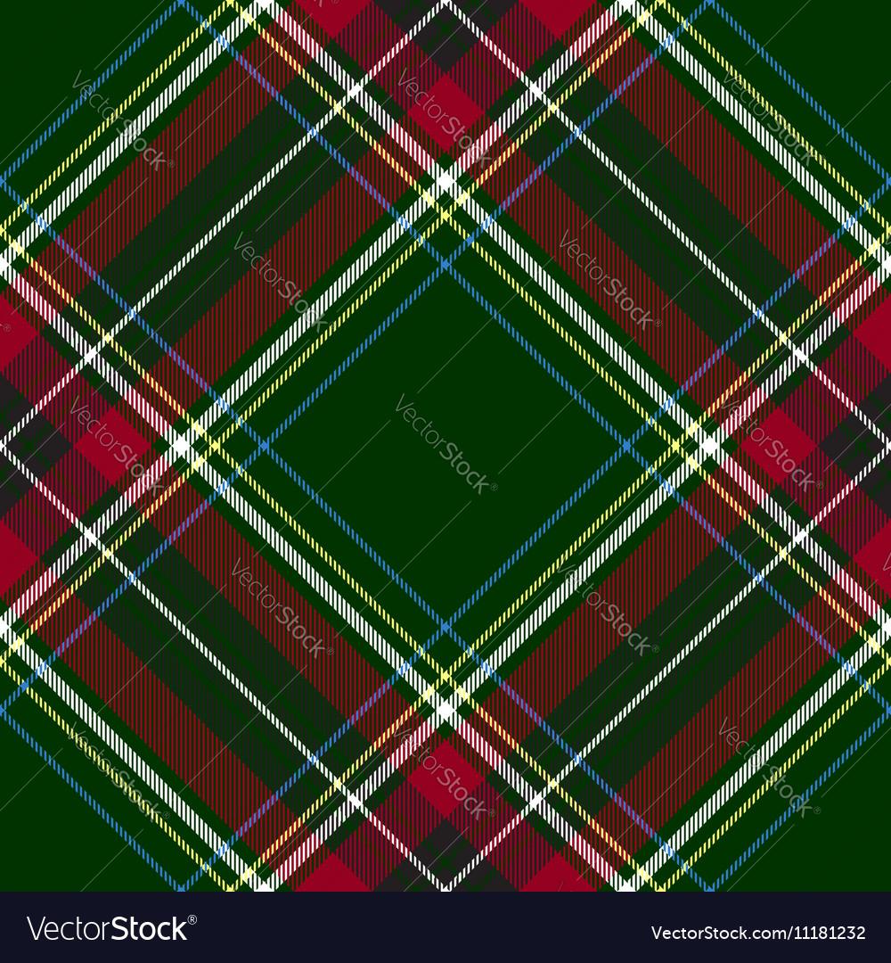 Green red diagonal check tartan textile seamless