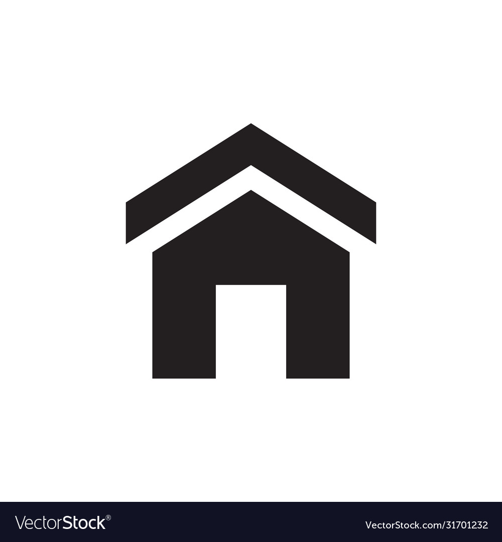 Home - black icon on white background