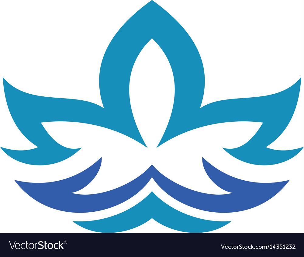 Lotus flower abstract logo design template vector image mightylinksfo
