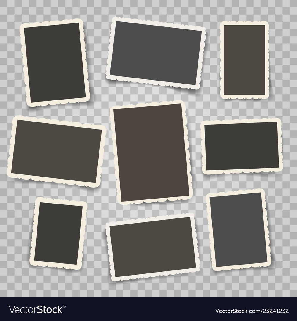 Retro photo frames templates