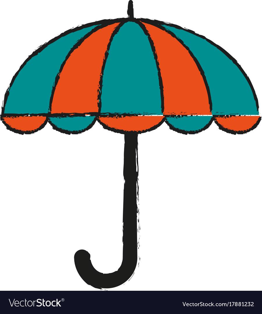 Umbrella weather symbol