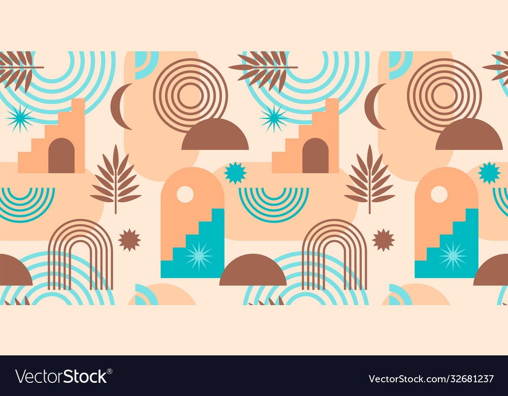 Abstract geometric seamless pattern contemporary