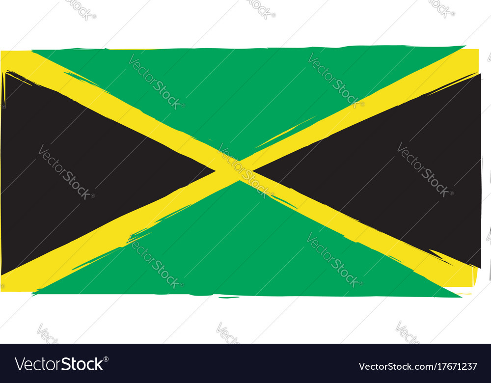 Abstract jamaican flag or banner