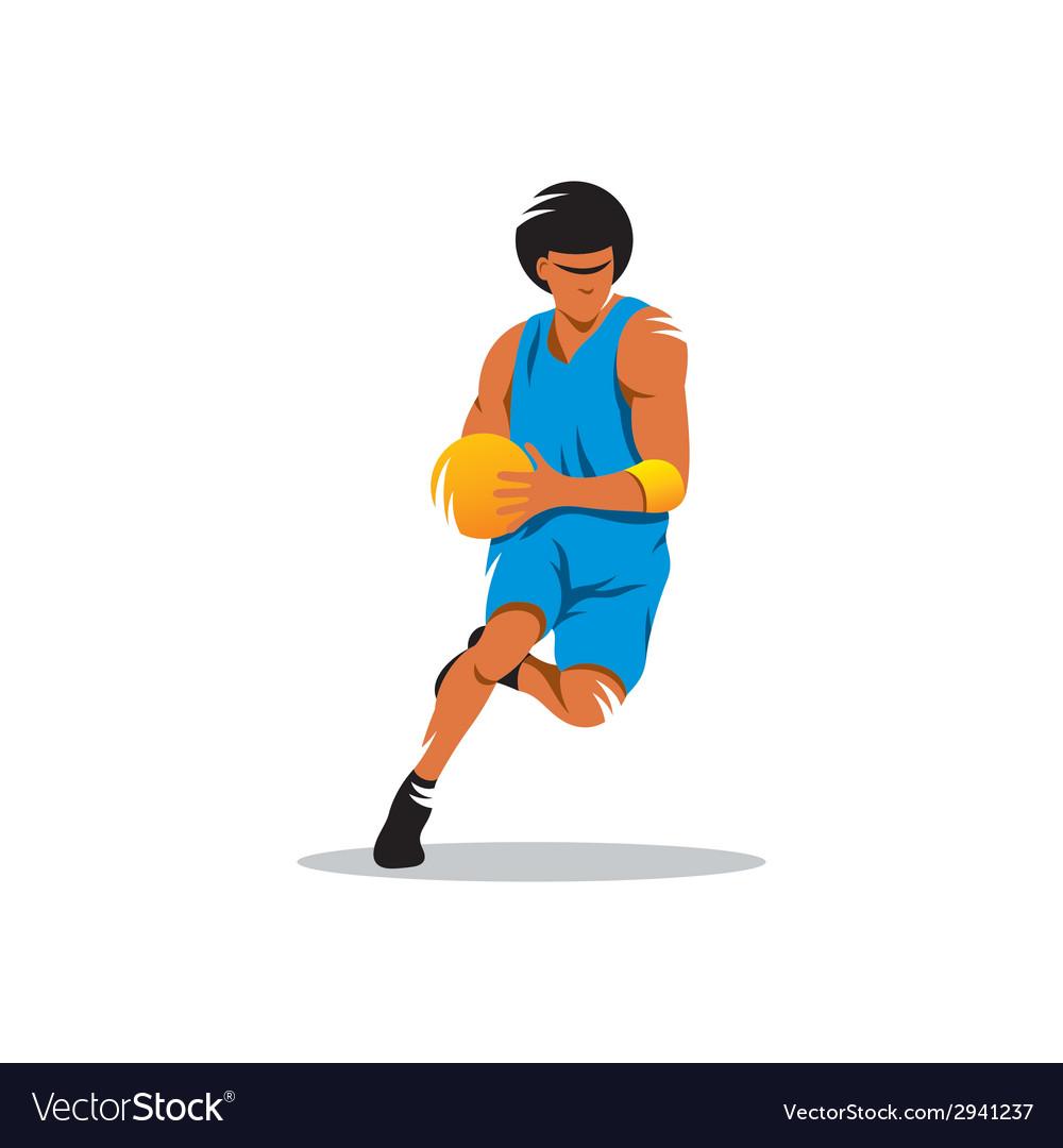 Basketball sign vector image
