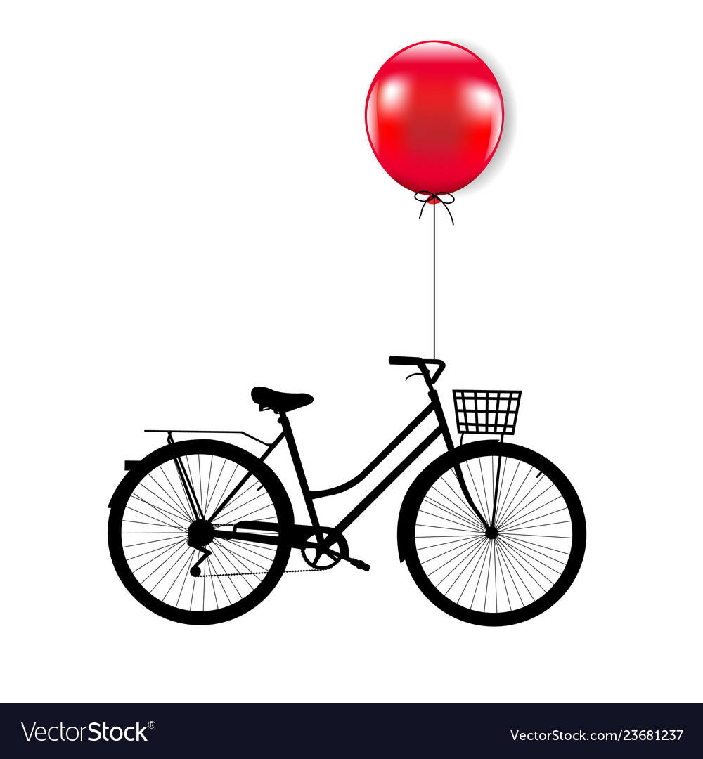 Bicycle with red balloon