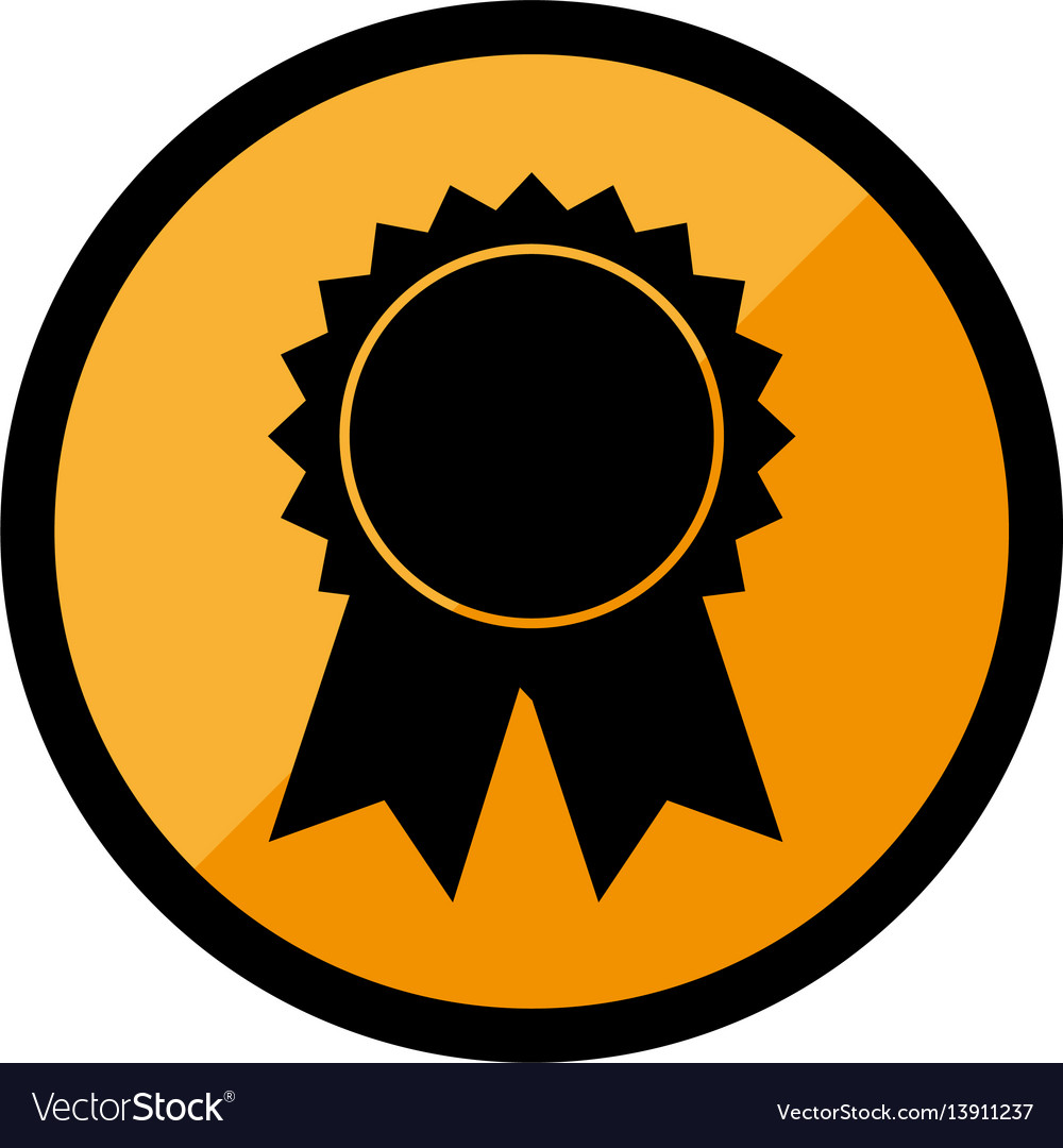 Circular emblem with medal prize