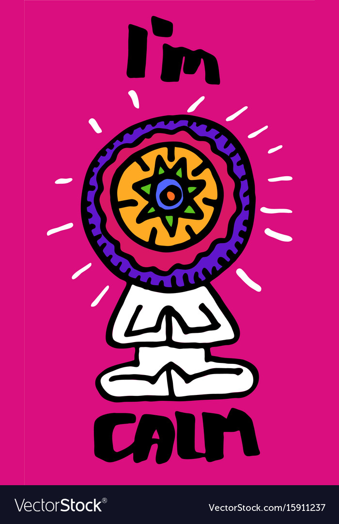 Colored the symbol of yoga a vector image