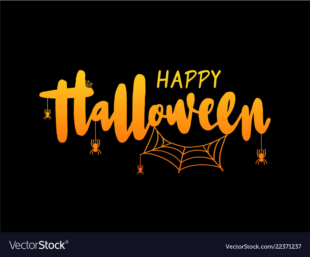 Happy halloween lettering holiday calligraphy