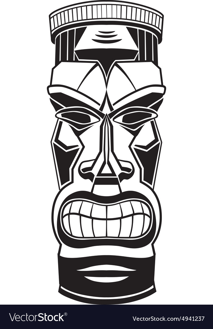 hawiian totem tiki royalty free vector image vectorstock rh vectorstock com tiki vector art free tiki vector artwork
