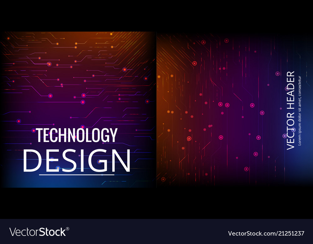 abstract technology web banner background 3d grid