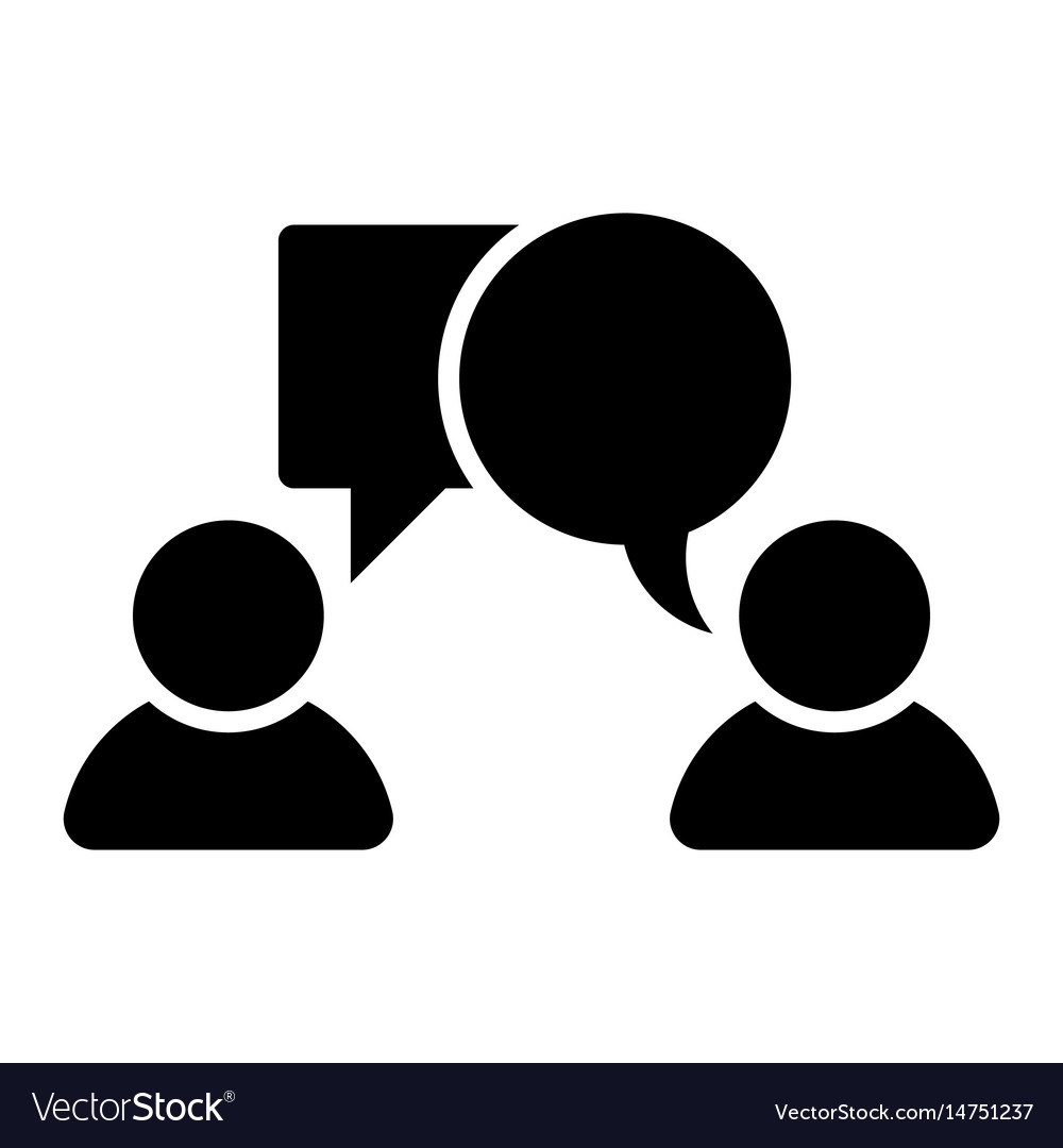 Two persons chatting client consultant vector image