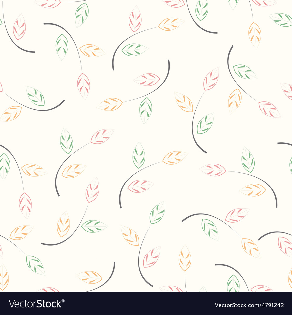 Abstract leaf texture vector image