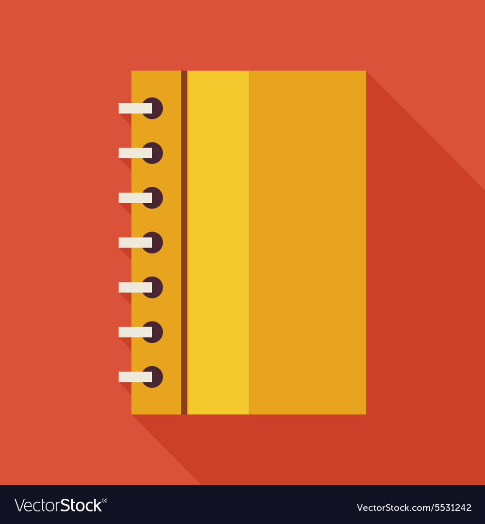 Flat Business Office Notebook with Spiral with