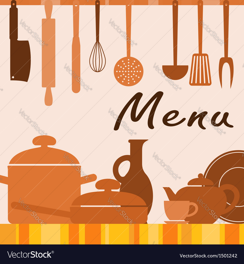 Kitchen background for menu cover