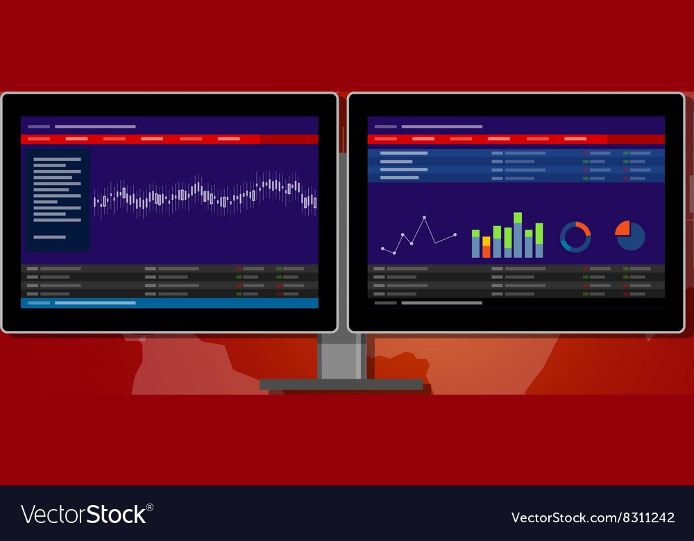 Monitor stocks transaction terminal