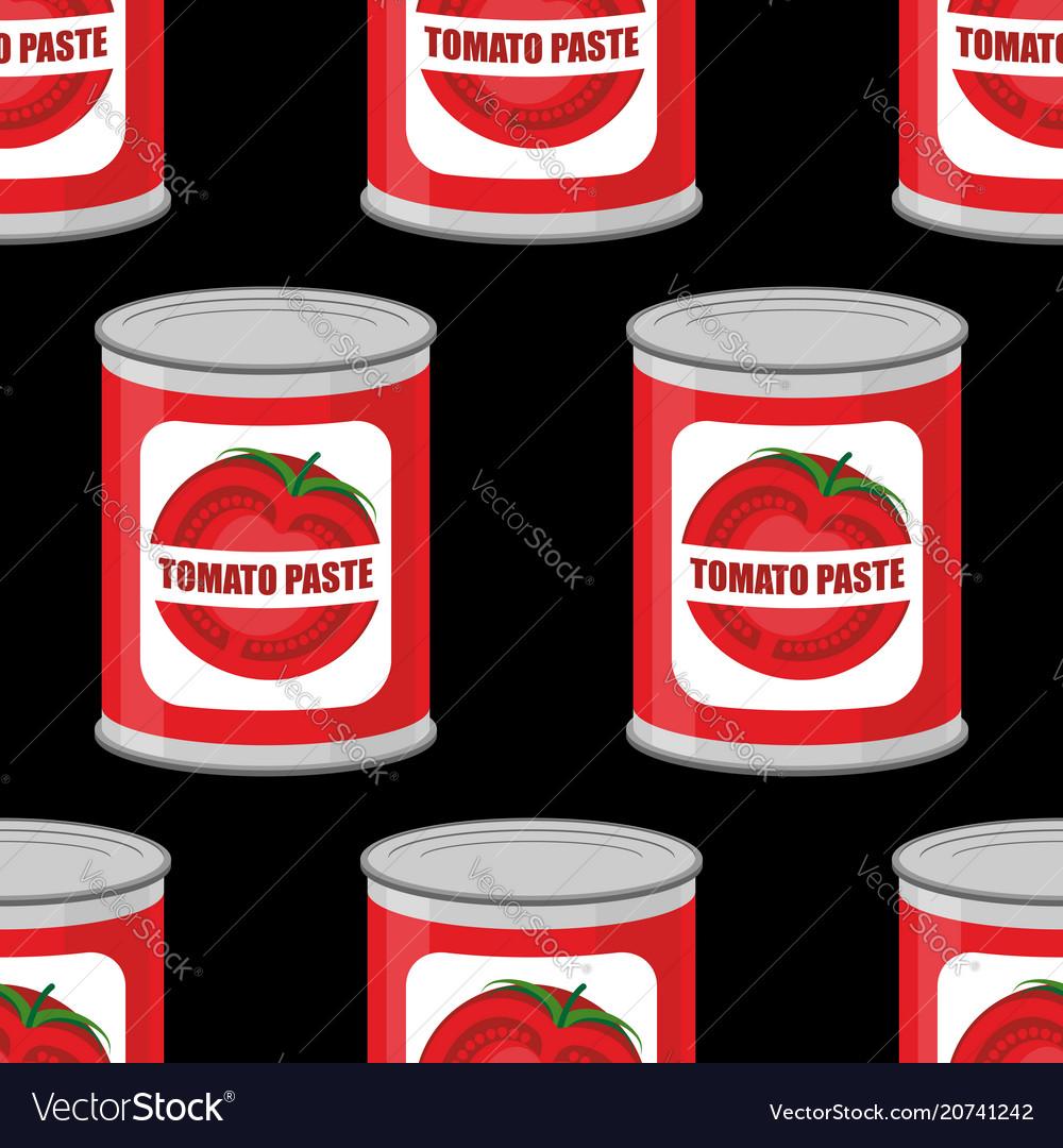 Tomato paste seamless pattern cans texture iron