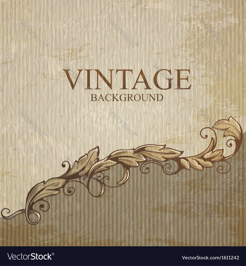Vintage background with design elements vector image