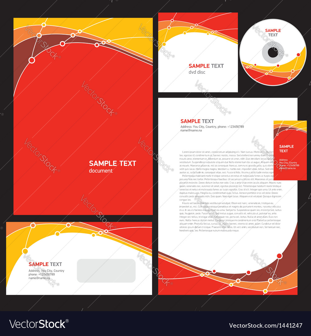 Abstract creative corporate identity line wave