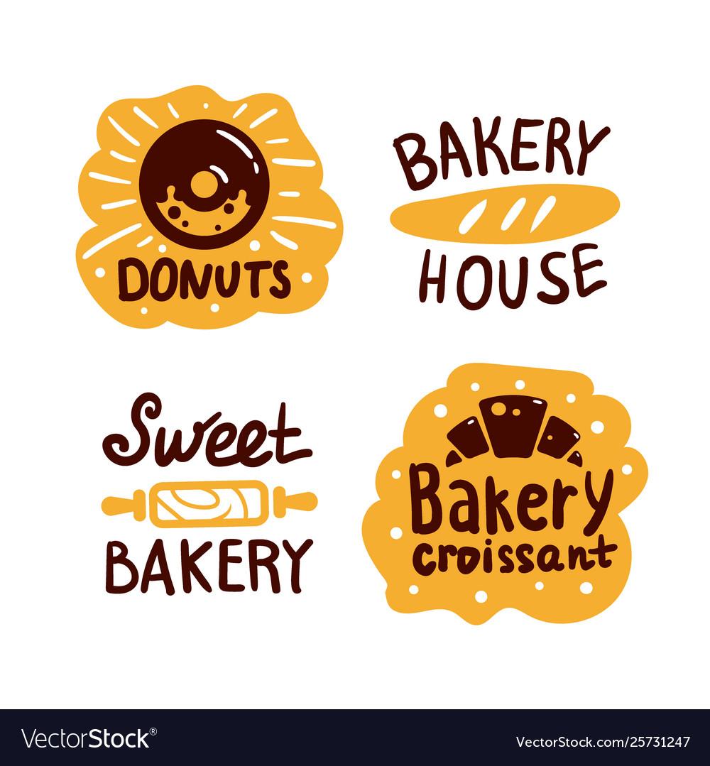 Bakery house shop logo food