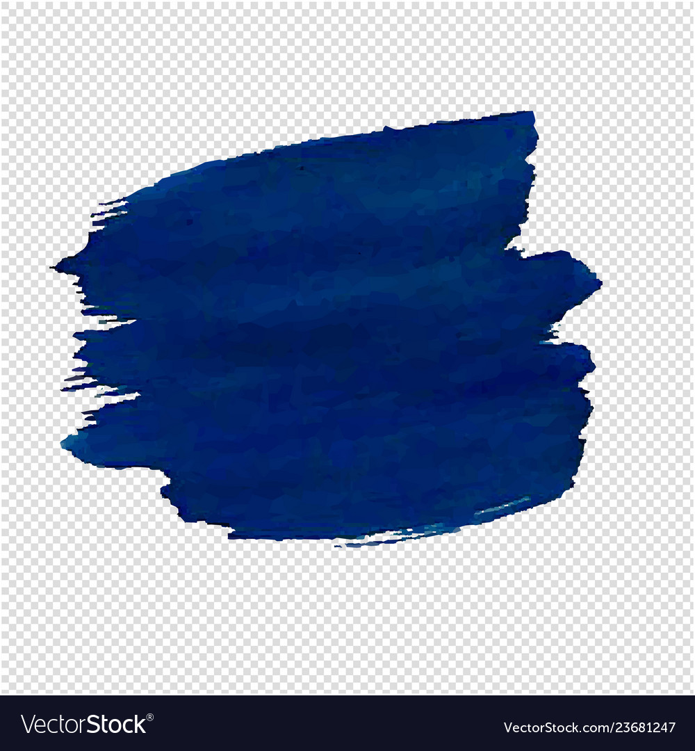 Blue blob isolated transparent background