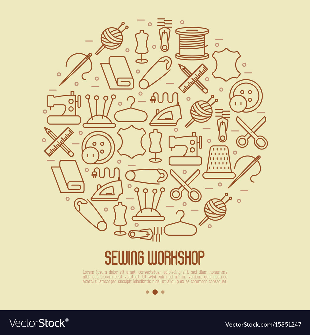 Concept for sewing workshop