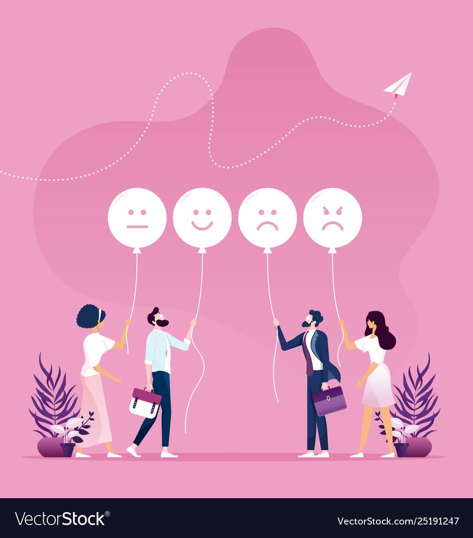 Customer feedback concept