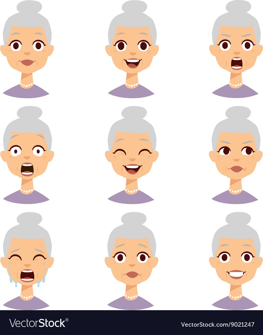 Grandmother emotions face