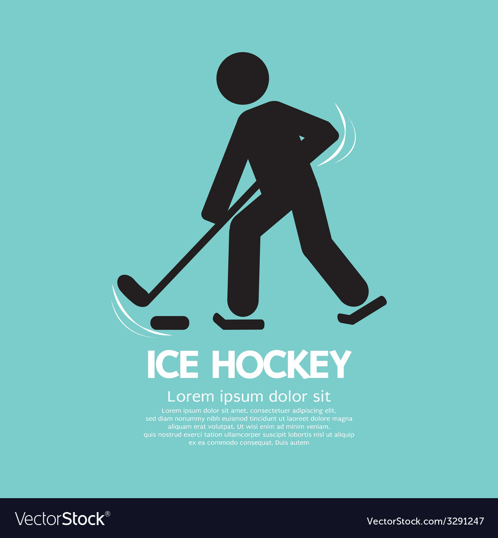 Ice Hockey Player Symbol