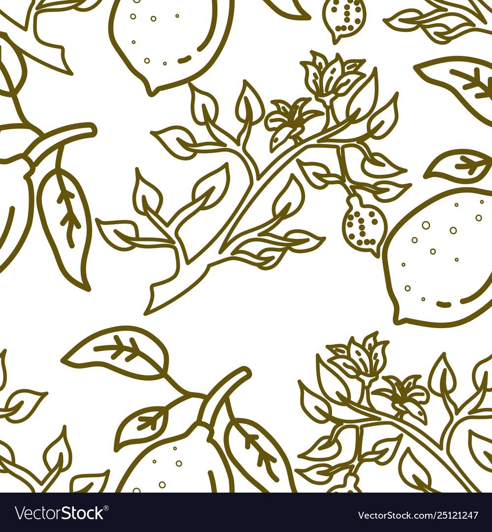 Lemon fruit pattern seamless template